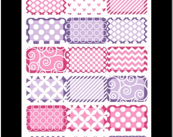 Pretty Paper Half Boxes- Purple and Pink || Stickers for Life Planner