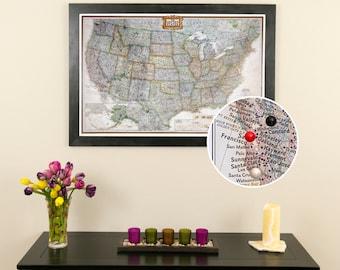 Us Travel Map Etsy - United states travel map