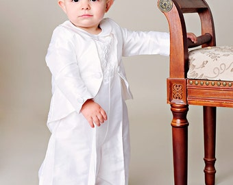 Anthony Silk Christening Baptism or LDS Blessing Outfit for Baby Boys