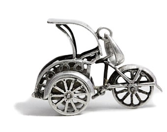 Pendant Tricycle Sterling Silver Jewelry Bike Bicycle Jewelry