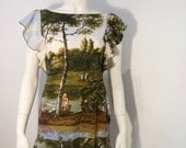 vintage Moschino history landscape dress
