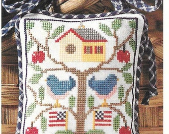Crickets Companion Summer Number 49 Jacobean Counted Cross Stitch Pattern Charted Design Rare Out of Print Needlework Summer Sampler Birds