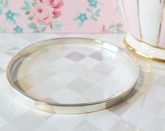 Solid Silver Bangle Bracelet | 4MM Sterling Silver Bangle | High Quality Bangle | Stacking Bangle Bracelet | Handmade Bangle Bracelet