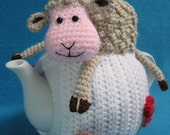 Teacosy Sheep Spring Easter Animal Tea Cosy Home decor PDF crochet PATTERN