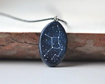 Virgo necklace Zodiac pendant September birthday Virgo constellation Virgo horoscope Virgo sign gift Star necklace Zodiac symbol August