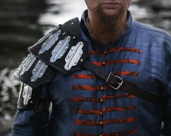 LARP Shoulder - Haradrim Single Pauldron - Leather Armor