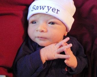 Newborn Hospital Hat. Newborn Hospital Beanie. Personalized Newborn Hat. Newborn Name Hat