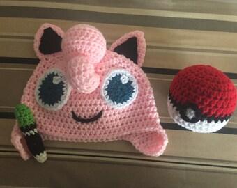 Jigglypuff Hat w/free Pokeball
