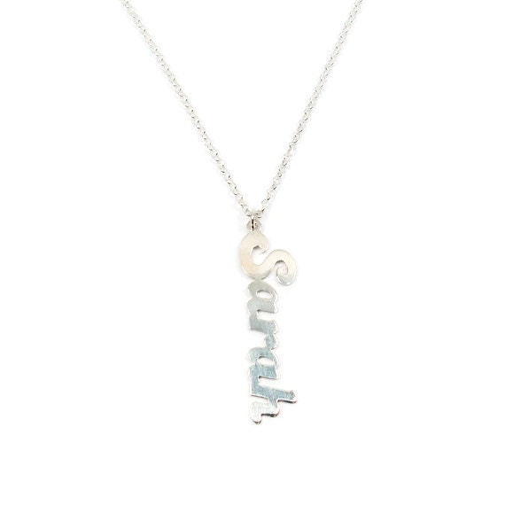 name necklace vertical name necklace personalized sterling