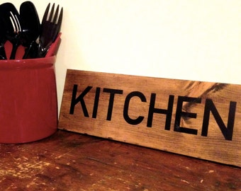 Kitchen Sign, Rustic Kitchen Sign, Kitchen Decor, Wooden Kitchen Sign, Rustic Kitchen Decor