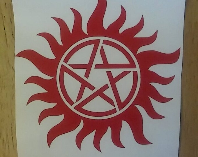 Supernatural Anti Possession Ward Vinyl Decal