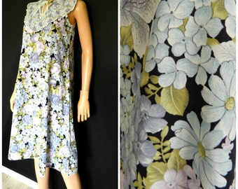 Vintage 70's floral ditsy dolly cotton summer Festival Sundress SM