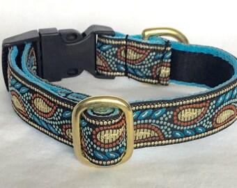 20mm Brocade Adjustable Quick release collar ideal for Terriers