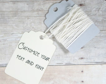 Cream Thank You Tags Set of 20 - Ivory Gift Tags - Merchandise Tags - Price Tags - Thank You Favors - Ivory Wedding Tags - Cream Shower