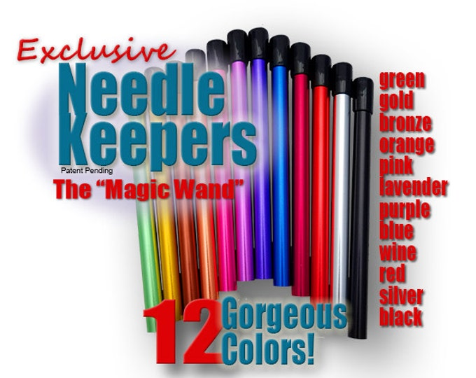 Featured listing image: Needle Keeper-SG: Single-Capped for circular knitting needles, protect your precious needles and work in progress.