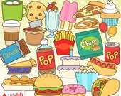 Junk Food Clip Art and Lineart - personal and commercial use