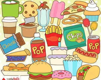 Food Clip Art - Hand drawn clip art, food collage sheet ...