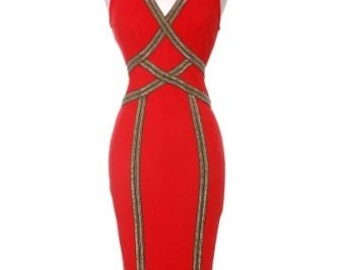 Red Evening Dress, Bodycon Dress, Red Bodycon Dress, Black Bodycon Dress, Red Midi, Black Midi, Formal Midi, Red Cocktail Dress, Red Dress