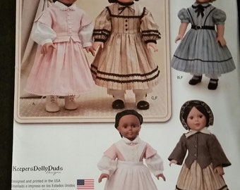 Simplicity 1391, KeepersDollyDuds Pattern for 18 inch Doll, fits American Girl,