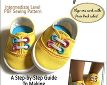 Pixie Faire Miche Designs Pixie Sweets Slip-Ons Doll Shoe Pattern for 18 inch American Girl Dolls - PDF