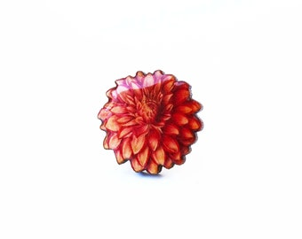 Flower ring, vintage ring, dahlia, dahlia accessory, flower accessory, ring, statement ring, botanical