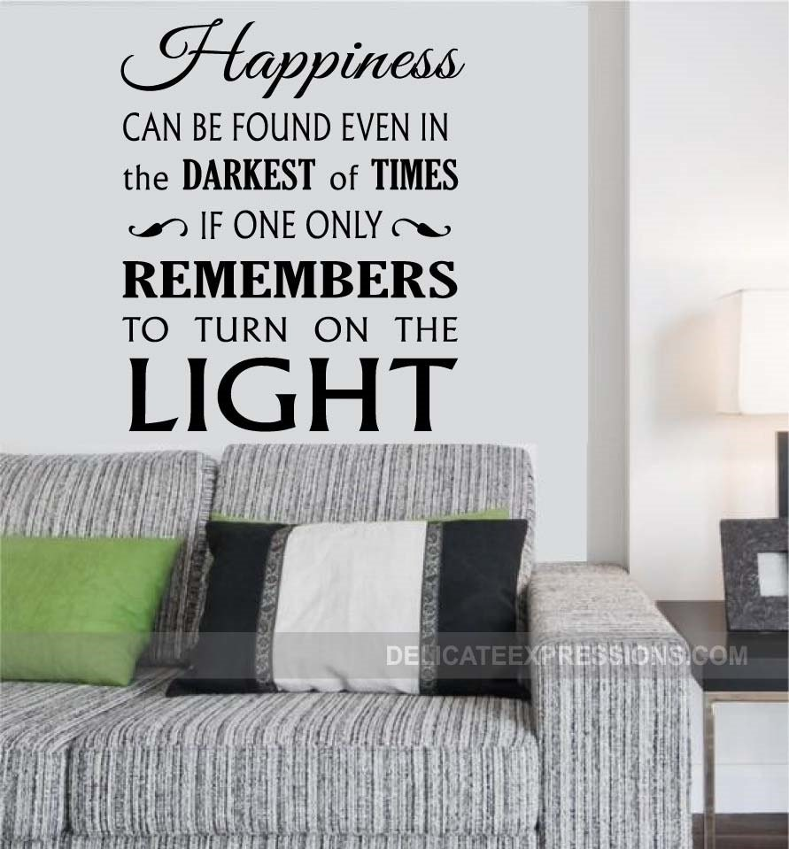 Harry Potter Wall Quote about Happiness in the Darkest of Times by StoneCreekWallDecals