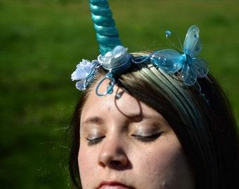 Aqua Light Up Unicorn Crown