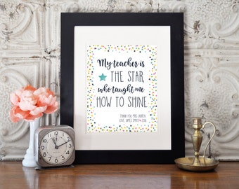 Teacher Appreciation Gift - 8x10 - Printable - Custom
