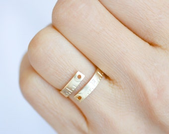 Tape Measure Ring. adjustable ring. choose your color gold and silver. no35