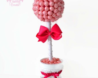 Custom Lollipop Bride Topiary, Bride Candy Centerpiece, Wedding Candy Lollipop Centerpiece, Engagement Party, Bridal Shower, Candy buffet