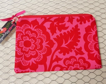 Zipper pouch, Pencil pouch, Travel pouch, Pink