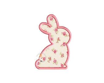 Bunny Silhouette Applique - Instant EMAIL With Download - for Embroidery Machines