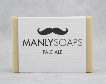 BEER SOAP, Pale Ale, Cold Process, Hand Made, Men's Soap