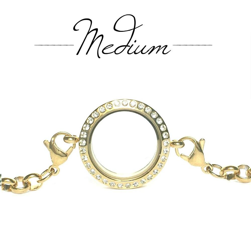 memory locket floating charm bracelet by mystonebridgedesigns