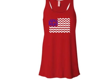 Monogrammed 4th of July Tank