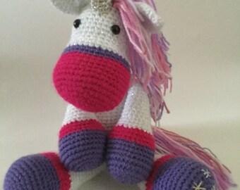 Unicorn or Horse Crochet Amigurumi PDF pattern