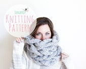 PATTERN | PDF PATTERN | The Juniper Cowl Knitting Pattern | Oversized Chunky Cable-Knit Scarf | Super-Bulky Yarn | Downloadable File