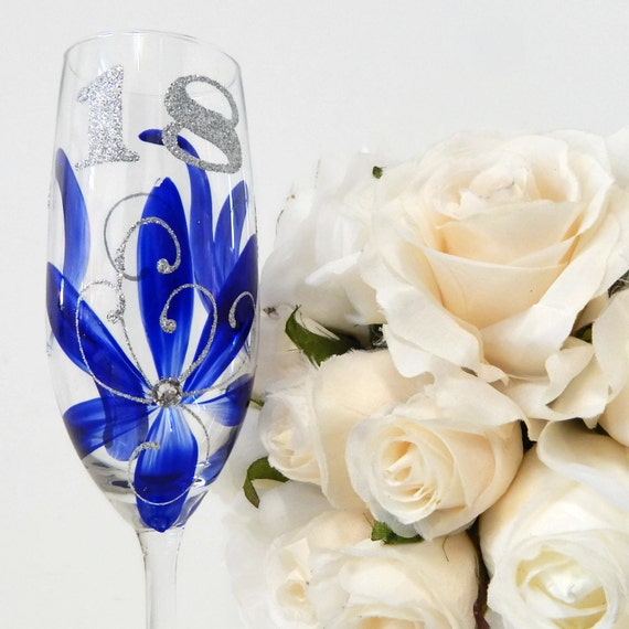 18th Birthday Glass Gift For Her 18th Sapphire By