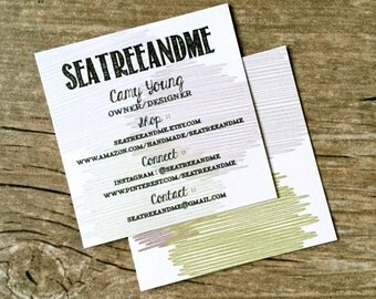 Square Business Cards / Square Calling Cards / Custom Modern Double Sided Business Cards