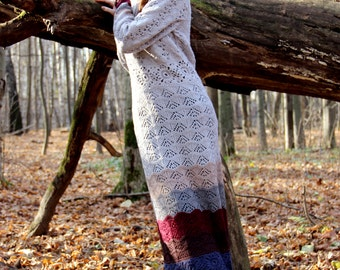 "Knitted Dress ""Spirits of the autumn forest"""