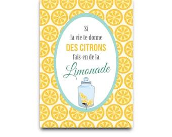 Postcard: If life gives you lemons, make lemonade - DC