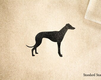 Greyhound Silhouette Rubber Stamp - 2 x 2 inches