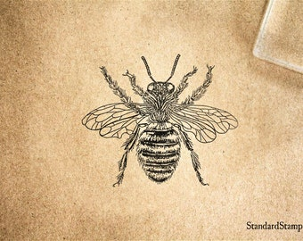 Queen Bee Rubber Stamp - 2 x 2 inches