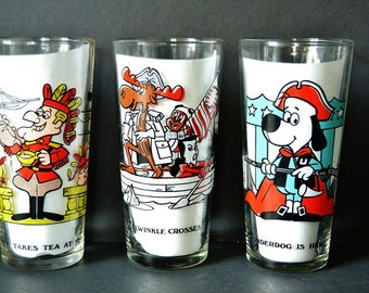Vintage Cartoon Glassware from Arby's
