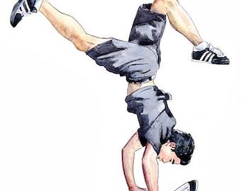 Original Break dance illustration