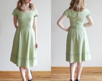 SALE * Mint Julep Dress * 1960s Harry Keiser green dress * Size 2