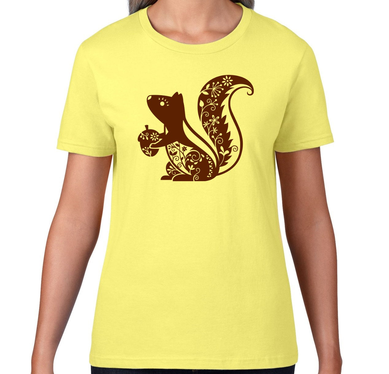 Cute squirrel tshirt cute animal t shirt whimsical squirrel for Animal tee shirts online