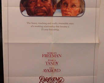 "Driving Miss Daisy Movie Poster  ""Driving Miss Daisy""   Original 1989 Movie Poster One-Sheet  - Morgan Freeman - Jessica Tandy - Dan Aykroyd"