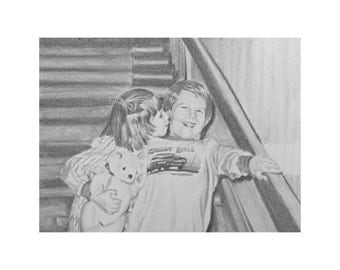 Custom Drawing from Photo, Custom Pencil Sketch, Pencil Portrait from Photo, Portrait Drawing, Custom Portrait, Black and White Portrait