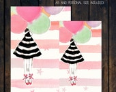 Printable Dashboard/Divider For Your Planner (A5 and Personal Size) - Balloon Girl